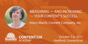 Measuring and Increasing Your Content's Success with Hilary Marsh