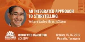 An Integrated Approach to Storytelling with Voltaire Santos Miran